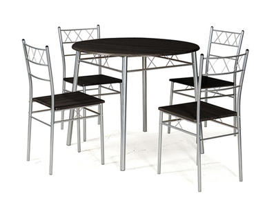 Table ronde + 4 chaises Lota