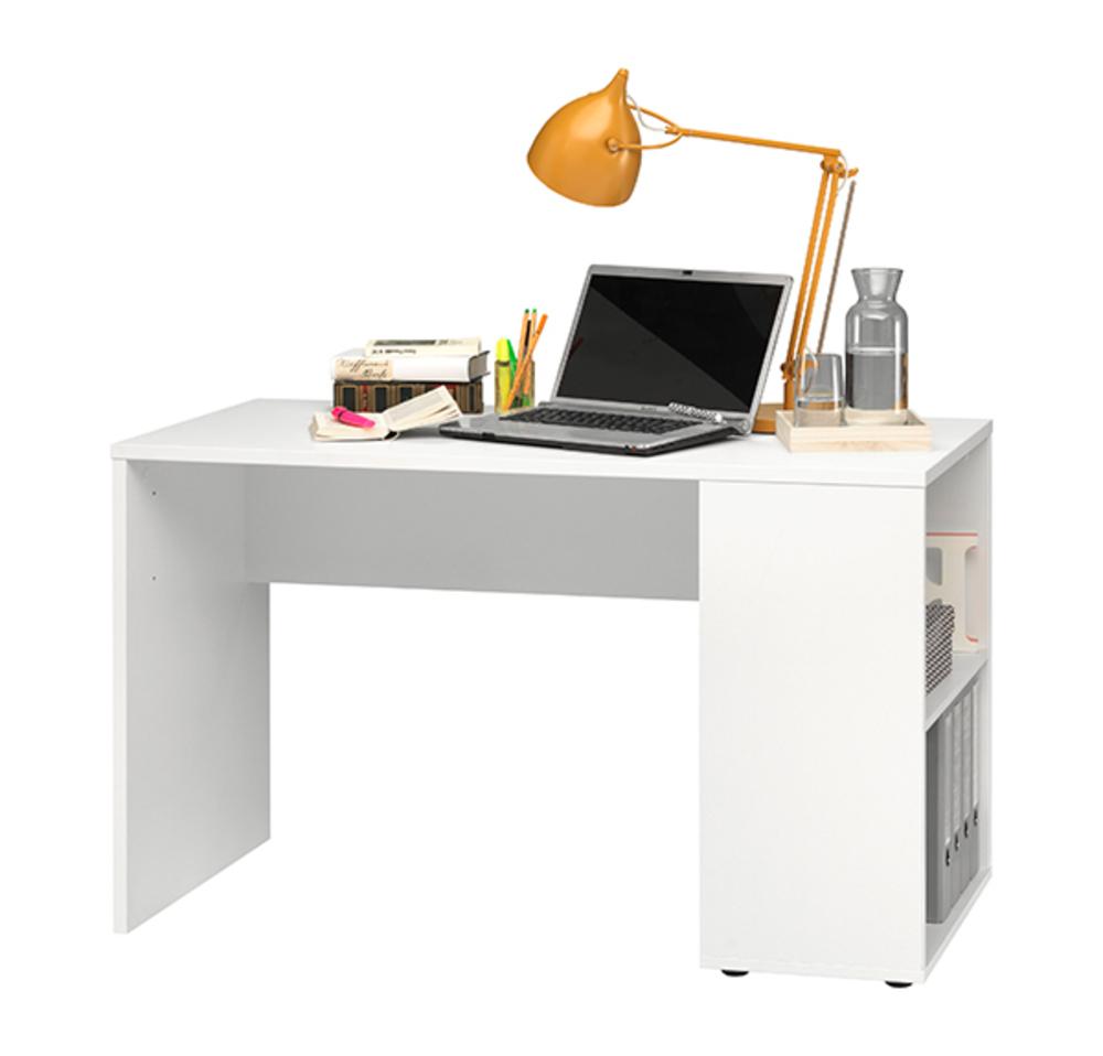 Bureau avec tag res rio blanc for Meuble bureau avec etagere