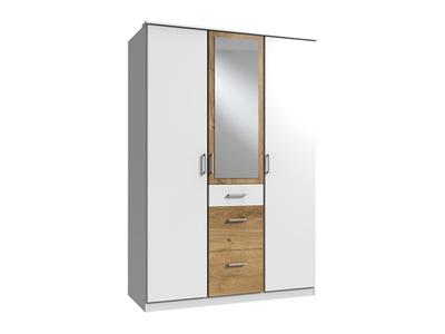 Armoire 3 portes dont 1 miroir 3 tiroirs