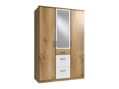 Armoire 3 portes dont 1 miroir 3 tiroirs Click
