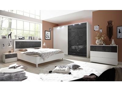 Armoire Xaos blanc/gris