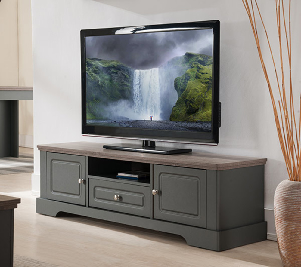 Meuble Tv Couleur Taupe Elegant Ensemble Meuble Tv Couleur Chne  # Meuble Tv Design Tika Anthracite Blanc