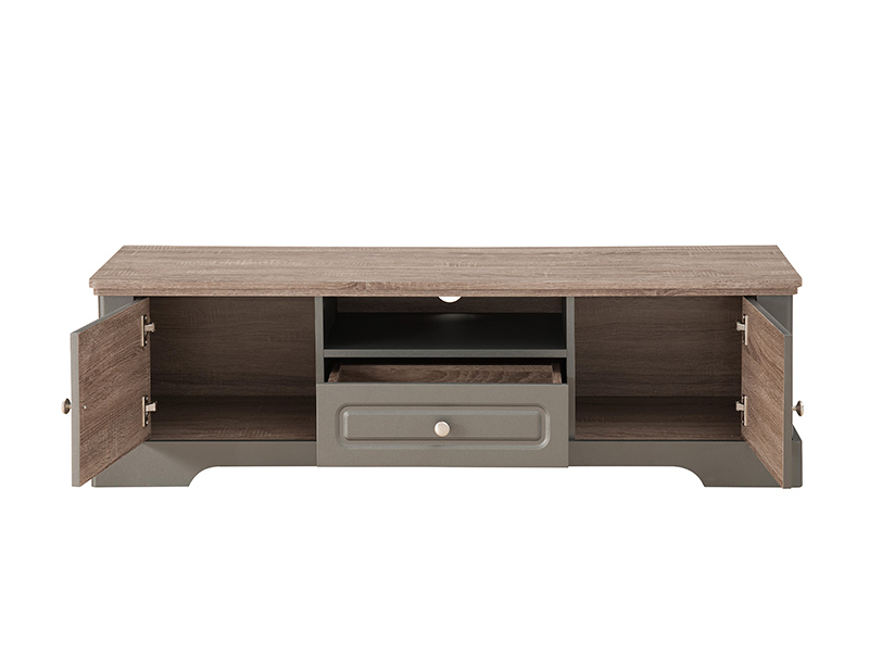 meuble tv dessy taupe chene. Black Bedroom Furniture Sets. Home Design Ideas