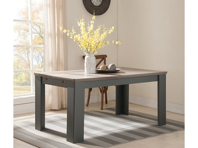 Table de repas extensible Dessy taupe/chene
