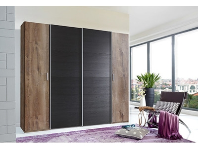 Armoire 2 portes battantes+2 portes coulissantes Lotto