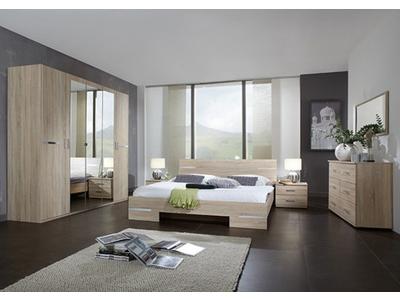 Armoire 4 portes Anna chambre à coucher chene