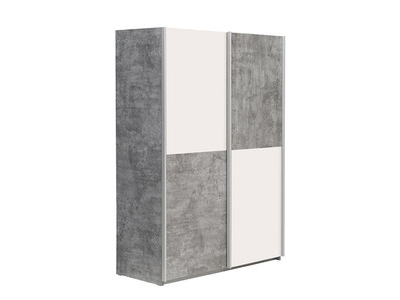 Armoire Lupo béton gris/blanc mat