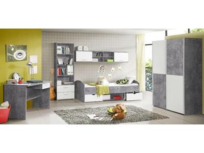 Bureau Lupo béton gris/blanc mat