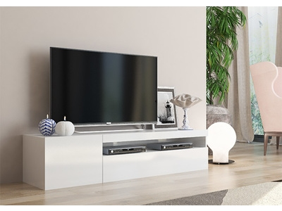 meuble tv gm daiquiri blanc brillant. Black Bedroom Furniture Sets. Home Design Ideas