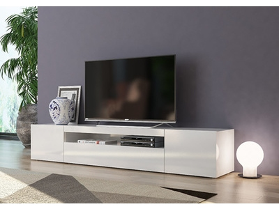 Meuble television for Meuble tele blanc
