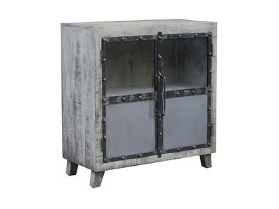 Bahut 2 portes Industry gris