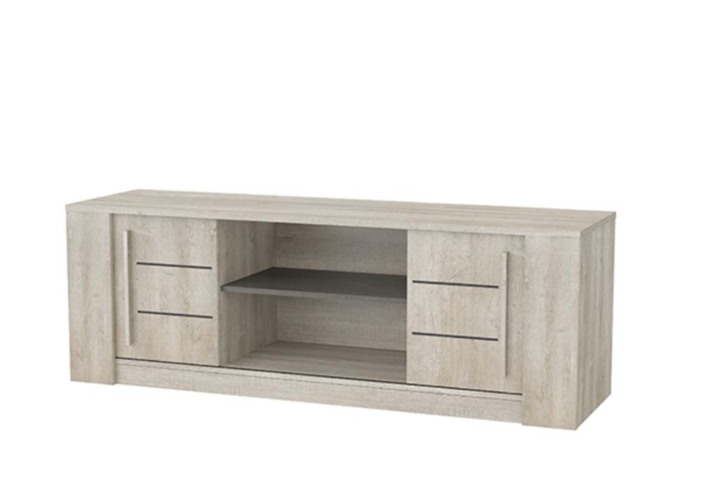 meuble tv antibes chene champagne b ton clair. Black Bedroom Furniture Sets. Home Design Ideas