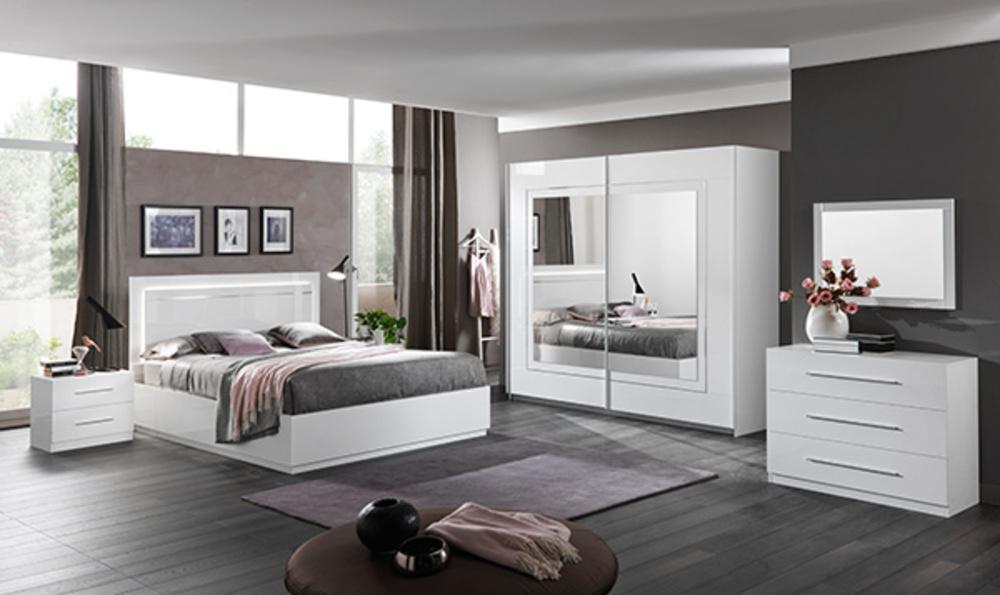 lit avec coffre de rangement star blanc. Black Bedroom Furniture Sets. Home Design Ideas