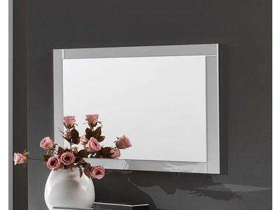 Miroir Star laqué blanc