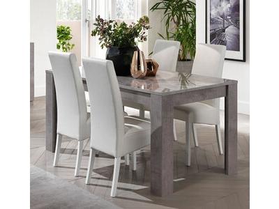 Table de repas Greta laqué gris/béton