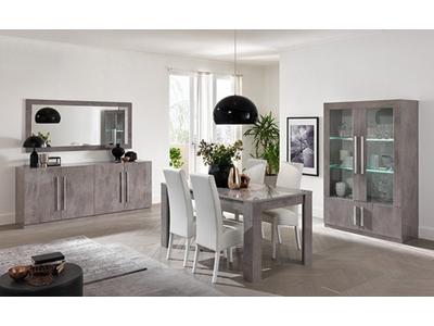 Table basse Greta laqué gris/béton