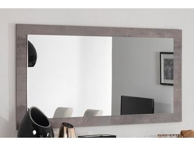 Miroir Greta laqué gris/béton