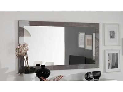 Miroir Greta laqué blanc/béton