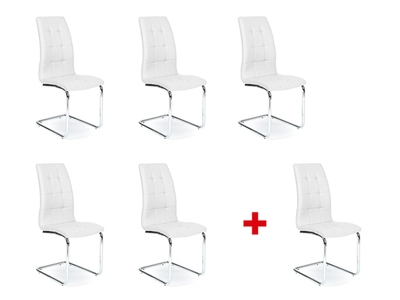 Lot de 5 chaises +1 offerte Axel