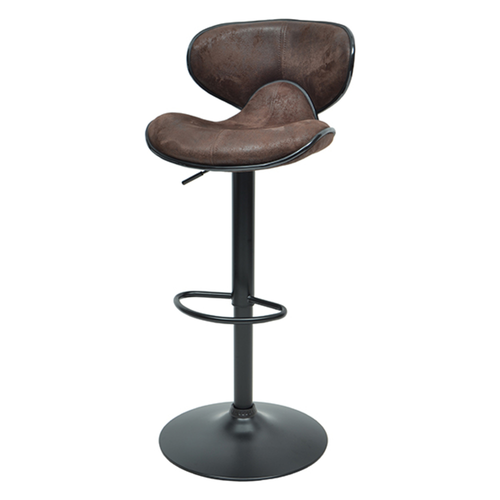 tabouret de bar thor noir marron vintage. Black Bedroom Furniture Sets. Home Design Ideas
