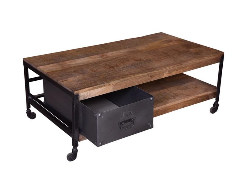 le dernier afbb9 c3419 Table basse avec tiroir Factory