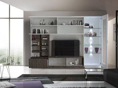 Living Line compact laqué brillant/chene wengué