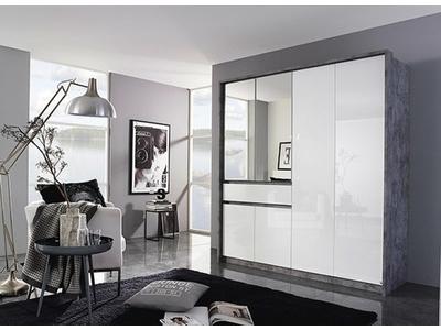 Armoire 6 portes + 1 tiroir Bornheim-plus