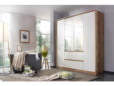 Armoire 4 portes 2 tiroirs