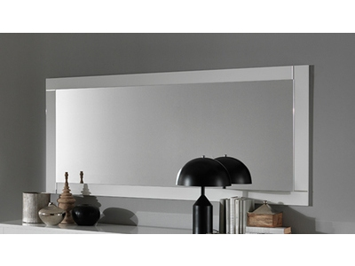 Miroir Modena laquée blanc/béton