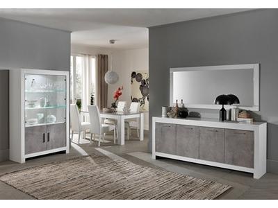 Table basse Modena laquée blanc/béton