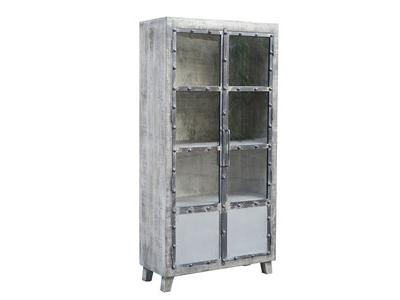 Vitrine 2 portes Industry gris