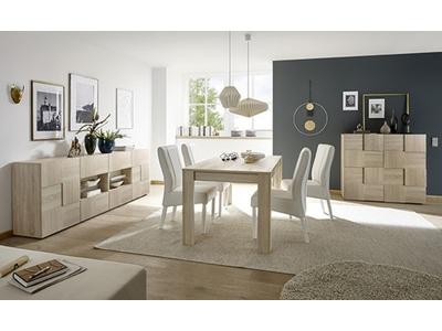 Table de repas extensible Damier bois