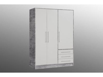 Armoire 3 portes 3 tiroirs