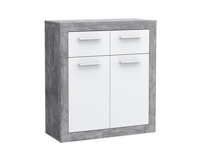 Meuble de rangement 2 portes 2 tiroirs Kiss