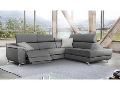 Canapé d'angle droit 1 relax electrique