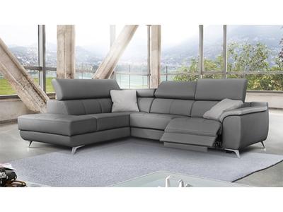 Canapé d'angle gauche 1 relax electrique Troy