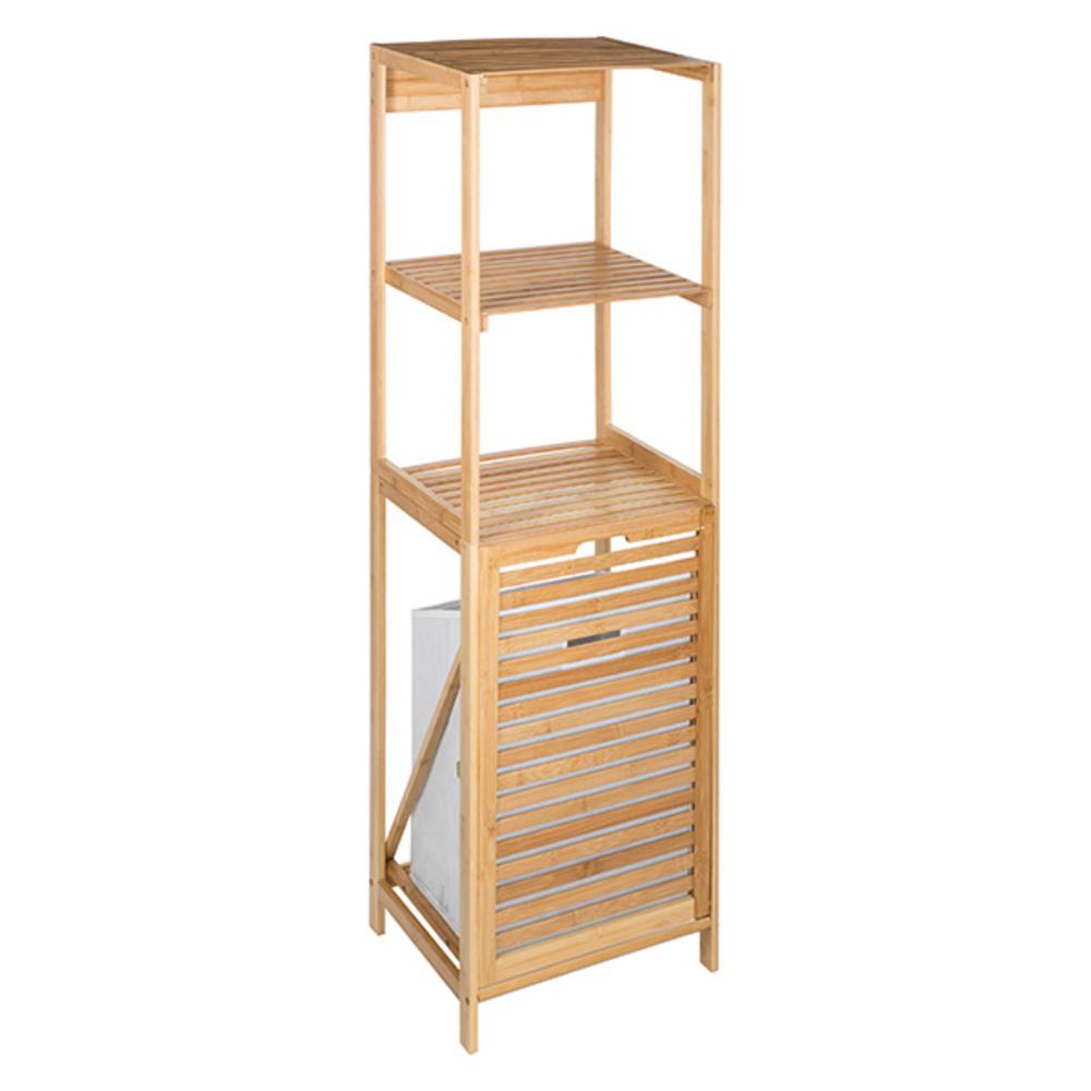 etagere 2 niveaux bambou panier a linge bambou. Black Bedroom Furniture Sets. Home Design Ideas