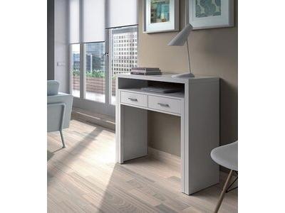 Bureau console alicia blanc mat