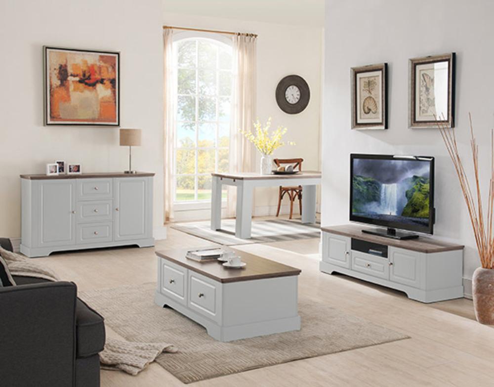 Meuble Tv Dessy Blanc Chene