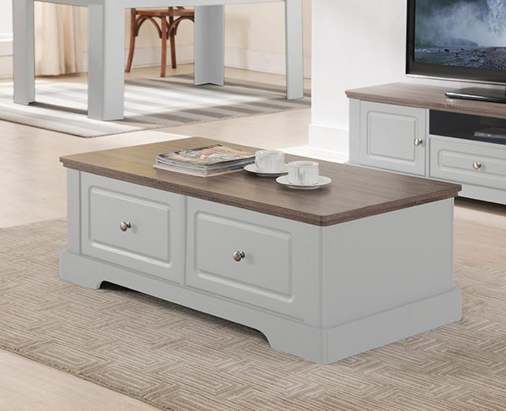 Table Basse Dessy Blanc Chene