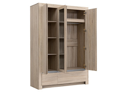 Armoire 3 portes 3 tiroirs Pasadena