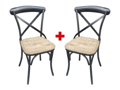 Lot de 2 chaises Industry naturel
