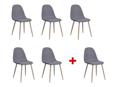 Lot de 5 chaises + 1 offerte Iena