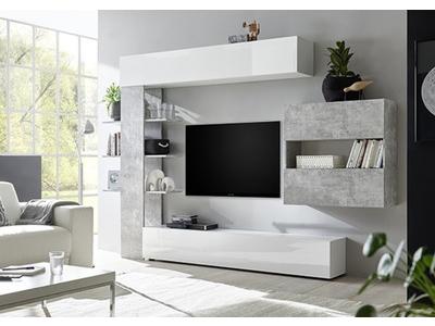 Living 2 Sardegna blanc/béton