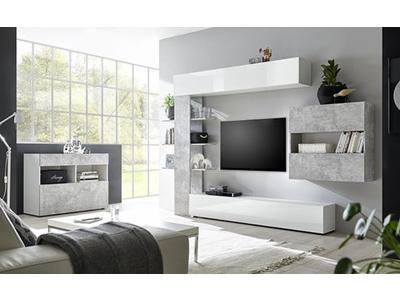 Living 3 Sardegna blanc/béton