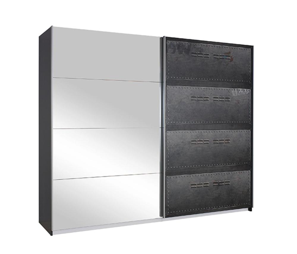 armoire 2 portes coulissantes miroirmtal workbase - Armoire Portes Coulissantes Miroir
