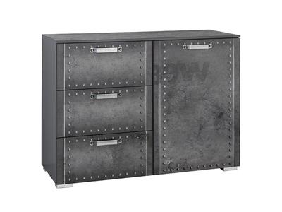 Meuble 1 porte 3 tiroirs Workbase