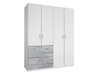 Armoire 4 portes + 2 tiroirs