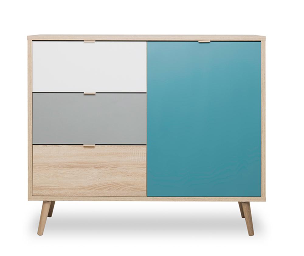 meuble 1 porte 3 tiroirs cuba