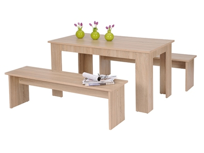Table + 2 bancs